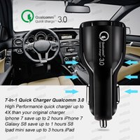 6A Fast Charger Car Charger 5V Dual USB Fast Charging Adapter for iPhone Samsung Huawei Metro phones without Packaging Free DHL