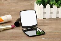 الأزياء الاكريليك مستحضرات التجميل المحمولة مرآة للطي المخملية حقيبة الغبار مرآة مع هدية مربع أسود ماكياج مرآة المحمولة الكلاسيكية (أنيتا)