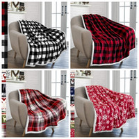 Adults Plaid Printed Blanket Flannel Blankets Thickening Squ...
