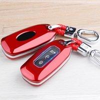 غطاء مفتاح السيارة لفورد فوكس MK3 MK5 مونديو MK4 فييستا MK7 العبور مخصص 2018 2020 2019 2020 حالة المفاتيح حامل الملحقات
