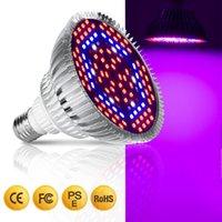 Sıcak satış LED Kapalı Topraksız Çiçekler Bitkiler LED Büyüme lambası için Işık Full Spectrum 30W / 50W / 80W E27 LED Büyüyen Ampul büyütün