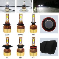 Luces antiniebla 2 unids H4 / H7 / H11 / H1 / 9005/9006 72W 16000lm Súper brillante LED LED CANBUS CANBUS AUTO HI / LoV Bulbs 6000K White Styling1