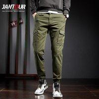 Мужские брюки Мужчины 2021 Мужская стритвальня Joggers Спортивные штаны Хлопчатобумажные брюки Harajuku Brach Brand Размер одежды 38
