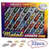 مصغرة الحديد الكرتون الملونة f1 سباق السيارات نموذج سيارة لعبة الجيب، سيارة رياضية مع المدرج، وقوف السيارات، عيد الميلاد كيد عيد ميلاد الصبي هدية، استخدام