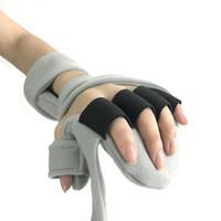 إصبع ثابت مصحح وظيفي الكسر إعادة تأهيل اليد المعصم جبيرة غامضة قابل للتعديل الراحة مصحح رمادي ثابت