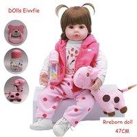 19 pulgadas 48cm Lifelike Bebe Reborn Muñeca bebé recién nacido Venta al por mayor Juguetes para niños Regalo de Navidad y regalo de cumpleaños Doll Toys Y200111