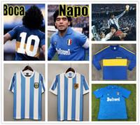 Maradona 1981 Boca Juniors Manga larga de 1978 1986 Argentina Diego Retro Fútbol Jerseys 1987 88 Vintage Napoli Fútbol Fútbol Camisa