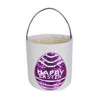 Пасмическая патч-патч-патч патча пасхальной корзины Круглый нижний пасхальный яйцо хранения корзины для детей Party Supply CCA3417
