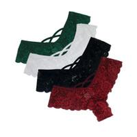 Calcinha das Mulheres 4 pcs para mulher Underwear Sexy Lace Respirável Lingerie Soft Lingerie Feminina Briefs Calcinha Transparente Cúrbios