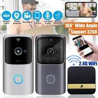 WiFi Doorbell Smart Hem Trådlös Telefon Dörrkamera Säkerhet Video Intercom 720p HD IR Night Vision för Apartments1