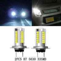 10pcs Livraison Gratuite H7 5630 LED 33 SMD LED 12V 6000K Blanc Auto Auto Fun Phare phare de lumière