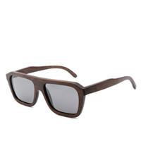 Óculos de sol de bambu de madeira Moda Proteção UV tons óculos de sol polarizados para mulheres e homens Handmade equitação óculos de sol