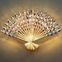 Lámpara de pared Moderna Cristal Forma Forma de Forma Dormitorio Luz Lujo Corredor Europeo Sponces Sponces Mirror Halloway