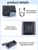 BICICLE LIGHT IVANTE USB RECARGABLE LED 1200M AH MTB Lámpara frontal Faro de aluminio Linterna ultraligera Luz de bicicleta