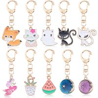 Creative Fox Cat Keychain Cartoon Animal Bag Key Pendant Key...