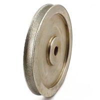 """Sanders 6 """"ZOLL LAPIDARY Diamant Schleifscheibe Durchmesser 8-15mm Trommelförmige Perlen Grit 80 grobe galvanische Arbor 5/8"""" Für Edelsteine"""