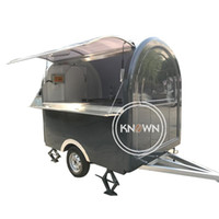 Balck Color Truck Mobile Trailer Street Card для мягкого мороженого Hot Dog Coffee Cort Vending Kiosk