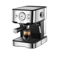 Máquina de café Pequeno tipo italiano tipo semi-automático tipo de vapor espuma fria fabricante de café café expresso1