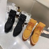 Moda diseñador amantes zapatos otoño invierno botas hombres señoras marca seda piel de vaca cuero alto top botines planos