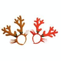 Reindaer Antlers Fascia natale Pasqua Pasqua Partito di Halloween Donne Donne Girls Kid Deer Ear Party Hairband Gioielli da sposa regalo CCD3107