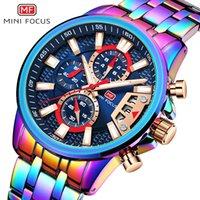 Minifocus 0352G Mode Hommes Regardez des montres à quartz imperméables Multiple Color Case Multi-fonction Casual Acier inoxydable Men's Reloj Hombre
