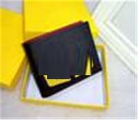 Männer Geldbörsen Designer Brieftasche Tasche PU Leder Geldbörse Mode Hohe Qualität Kreditkarte Bank Slot Tasche Taschen Schwarz 3 Arten