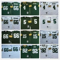 NCAA 1969 старинные ретро # 4 BRETT Favre Jersey 15 Bart Starr 66 Ray Nitschke 92 Reggie белые сшитые мужские футболки футбола