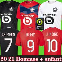 20 21 Maglia da calcio LOSC Lille casa fuori casa BAMBA J.IKONE J. DAVID YAZICI R.SANCHES 2020 2021 maglie da calcio Camicia Uomo Bambini Bambini Kit