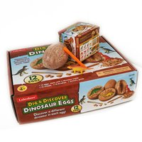 It su Dinosaur Eggs Dinosaur Excavation Kit Dig per bambini Dino Dig Kit Kit T-Rex Popolare Popolare Scienza Tyynosaurus Rex