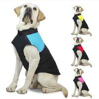 الخريف الشتاء الكلب الملابس الدافئة صدرية سترات الحيوانات المعاطف مع المقاود خواتم الحيوانات الأليفة الكلاب الملابس إسقاط السفينة WQ20-WLL