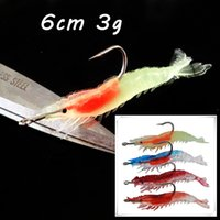 10 pz / lotto 4 Colore misto 6cm-3G Gamberetti Ganci da pesca Ganci singoli Gancio da Pesca LENCE Esche Affermati Pesca Pesca Attrezzatura da pesca SF_232