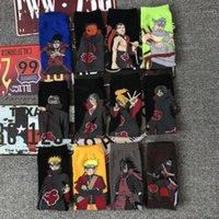Erkek Çorap 3D Baskılı Anime Karakter Naruto Adam Cosplay Kadın Eğlenceli Harajuku Hip Hop Kaykay Moda Men1