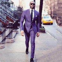 Costumes pour hommes Blazers Sodigne Hommes pour mariage 2pieces costume d'affaires Blazer Tuxedo sommet Costume de revers Homme Terno Party Jacket + Pant