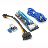Ver 008C PCIE 1x a 16x Scheda riser Express Grafica PCI-E Riser Extender 60cm USB 3.0 Cable SATA a 6pin Power for BTC Mining