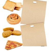 2021 2 stücke Toaster Taschen für gegrillte Käse-Sandwiches, leicht wiederverwendbare Nicht-Stick-Gebackene Toast-Brot-Backen Backen Past Fast Ship