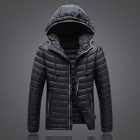 Erkek Aşağı Parkas 2021 Ultra Işık Kış Sıcak Ceket Ince Su Geçirmez Ceket 90% Beyaz Ördek JK-1503