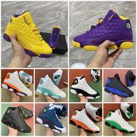 جديد jumpman 13 13 ثانية فلينت كرة السلة الأحذية 11 11 ثانية رجل إمرأة محظوظ الأخضر ترتفع ملعب ليكرز الرياضة رياضية المدربين حجم 3647