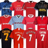Homme 07 08 90 92 96 98 99 United Retro Final Match Accueil Manchester Jerseys 1994 1998 United Ronaldo Beckham Cantona Keane Scholes Giggs Jersey