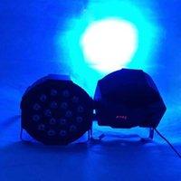 Neue Materialien 18W 18-LED RGB Auto- und Sprachsteuerungsparty Bühnenlicht Schwarz Top-Grade-LEDs Neue und hochwertige Par-Lichter