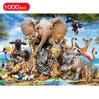 Головоломки серии животных 1000 штук слонов развивающие игрушки головоломки для детей океана World Puzzles для взрослых фигурки игрушки 201218