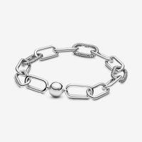 100% 925 Sterling Silver Charm Bransoletki Elek Bangle Collection New Micro Dangle Charms Moda Kobiety Wedding Engagement Biżuteria Akcesoria do prezentu