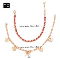 Rhinestone Crystal Ankle Bracelets new For Women Sandals Butterfly Anklet Beach Foot Bracelets Anklets Female Jewelry