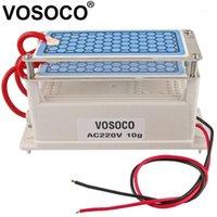 Ozongenerator 220V 10g Integrierter langer Lebensdauer Keramikplatte Ozonisator für Wasserluft sterilisieren Reinigerbehandlung Ozonmaschine1