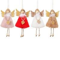 1PCS 크리스마스 장식 펜던트 크리스마스 귀여운 사랑 봉제 깃털 천사 크리스마스 트리 크리 에이 티브 펜던트 봉제 장난감