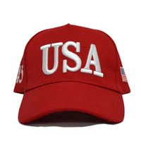 Il presidente all'aperto Unisex Trump 2020 Campagna BAC BACTER USA 45 American Flag 3D Cappello da camionista regolabile ricamato ricamato