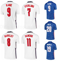 9 Harry Kane Jersey Soccer 7 Rahem Sterling 20 Dele Alli 15 John Stones 19 Jadon Sancho Harry Winks Kits de chemise de football Y-G-L