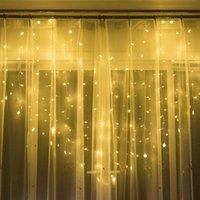LED amor coração colorido lâmpada festival janela cortinas de decoração de icicle luzes de corda sala de cobre fio flash luzes 22xc l1