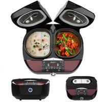Fogão de arroz multi-função Smart Dual Liner Kitchenware Duplo Bile Inteligente 9L Automática Automática pode ser cronometrado 220-240V 1PC