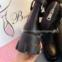 Bayanlar Çizmeler Cüzdan Motosiklet Botlar Deri Çıkarılabilir Keycase Botlar Sonbahar Ve Kış Kalın Alt Artan Ayakkabı