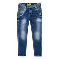 Heißer Verkauf Kinderkleidung Jungen Mode Schöne Beinhose Jeans Tägliche Kleidung Rissene Hosen Kinder Stretch Hosen Jeans